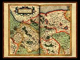 """Gerhard Mercator 1595 World Atlas - Cosmographicae"" - Wallpaper No.37.  Click for 640x480 or select another size."