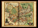 """Gerhard Mercator 1595 World Atlas - Cosmographicae"" - Wallpaper No.36.  Click for 640x480 or select another size."