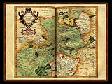 """Gerhard Mercator 1595 World Atlas - Cosmographicae"" - Wallpaper No.35.  Click for 640x480 or select another size."
