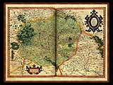 """Gerhard Mercator 1595 World Atlas - Cosmographicae"" - Wallpaper No.33.  Click for 640x480 or select another size."