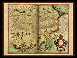 """Gerhard Mercator 1595 World Atlas - Cosmographicae"" - Wallpaper No.32.  Click for 640x480 or select another size."