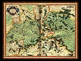 """Gerhard Mercator 1595 World Atlas - Cosmographicae"" - Wallpaper No.30.  Click for 640x480 or select another size."