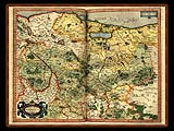 """Gerhard Mercator 1595 World Atlas - Cosmographicae"" - Wallpaper No.29.  Click for 640x480 or select another size."
