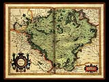"""Gerhard Mercator 1595 World Atlas - Cosmographicae"" - Wallpaper No.28.  Click for 640x480 or select another size."