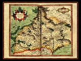 """Gerhard Mercator 1595 World Atlas - Cosmographicae"" - Wallpaper No.27.  Click for 640x480 or select another size."