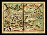 """Gerhard Mercator 1595 World Atlas - Cosmographicae"" - Wallpaper No.26.  Click for 640x480 or select another size."