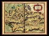 """Gerhard Mercator 1595 World Atlas - Cosmographicae"" - Wallpaper No.25.  Click for 640x480 or select another size."