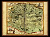 """Gerhard Mercator 1595 World Atlas - Cosmographicae"" - Wallpaper No.23.  Click for 640x480 or select another size."