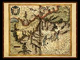 """Gerhard Mercator 1595 World Atlas - Cosmographicae"" - Wallpaper No.21.  Click for 640x480 or select another size."