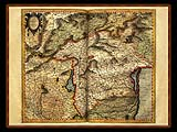 """Gerhard Mercator 1595 World Atlas - Cosmographicae"" - Wallpaper No.20.  Click for 640x480 or select another size."