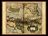 """Gerhard Mercator 1595 World Atlas - Cosmographicae"" - Wallpaper No.18.  Click for 640x480 or select another size."