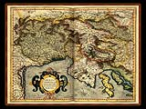 """Gerhard Mercator 1595 World Atlas - Cosmographicae"" - Wallpaper No.15.  Click for 640x480 or select another size."