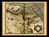 """Gerhard Mercator 1595 World Atlas - Cosmographicae"" - Wallpaper No.13.  Click for 640x480 or select another size."