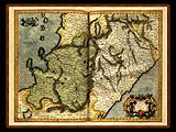 """Gerhard Mercator 1595 World Atlas - Cosmographicae"" - Wallpaper No.11.  Click for 640x480 or select another size."