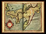 """Gerhard Mercator 1595 World Atlas - Cosmographicae"" - Wallpaper No.10.  Click for 640x480 or select another size."
