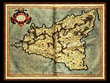 """Gerhard Mercator 1595 World Atlas - Cosmographicae"" - Wallpaper No.8.  Click for 640x480 or select another size."