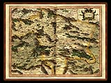"""Gerhard Mercator 1595 World Atlas - Cosmographicae"" - Wallpaper No.7.  Click for 640x480 or select another size."