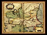"""Gerhard Mercator 1595 World Atlas - Cosmographicae"" - Wallpaper No.5.  Click for 640x480 or select another size."