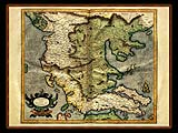 """Gerhard Mercator 1595 World Atlas - Cosmographicae"" - Wallpaper No.3.  Click for 640x480 or select another size."