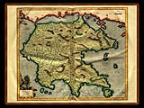 """Gerhard Mercator 1595 World Atlas - Cosmographicae"" - Wallpaper No.2.  Click for 640x480 or select another size."
