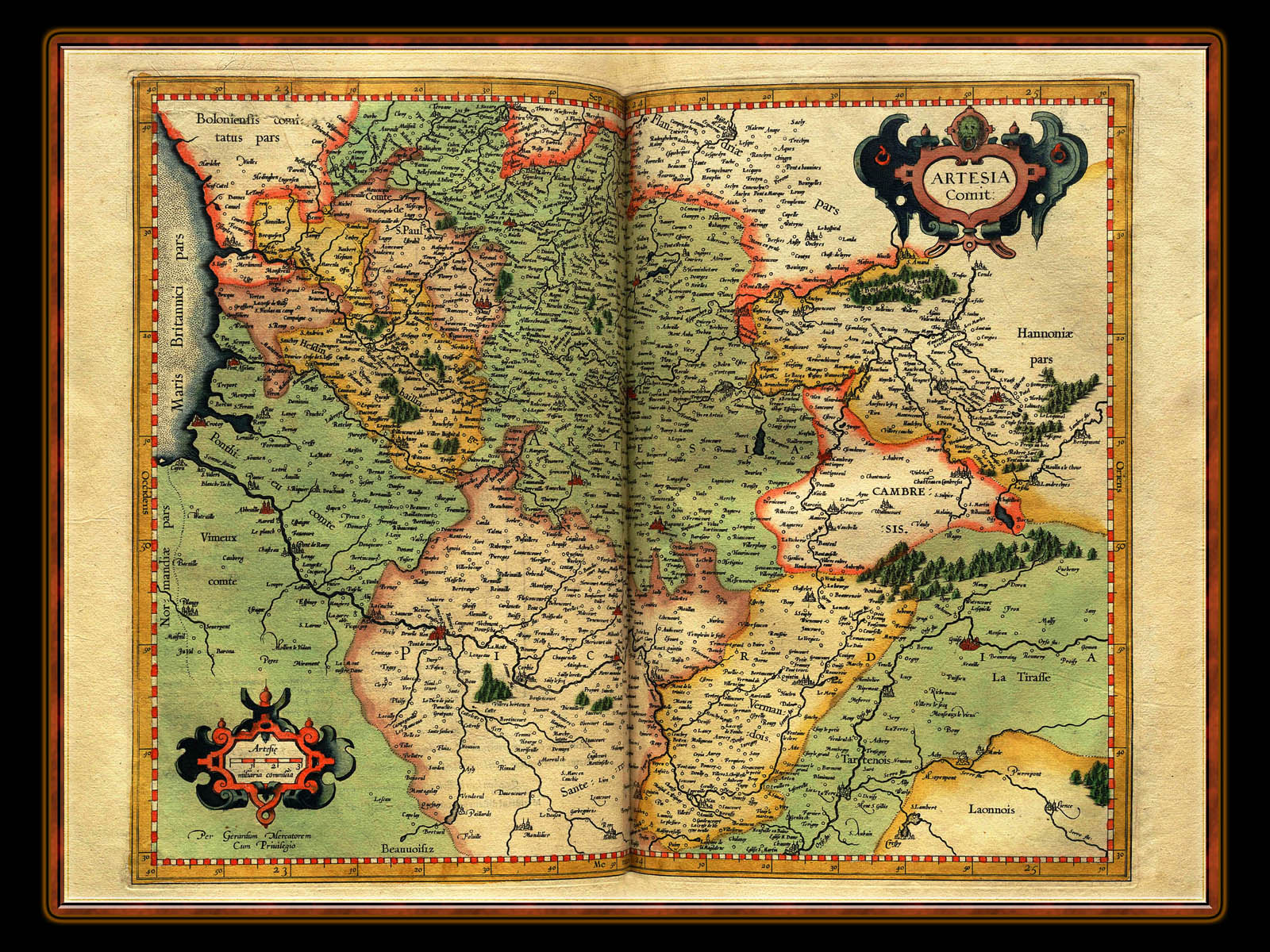 """Gerhard Mercator 1595 World Atlas - Cosmographicae"" - Wallpaper No. 51 of 106. Right click for saving options."