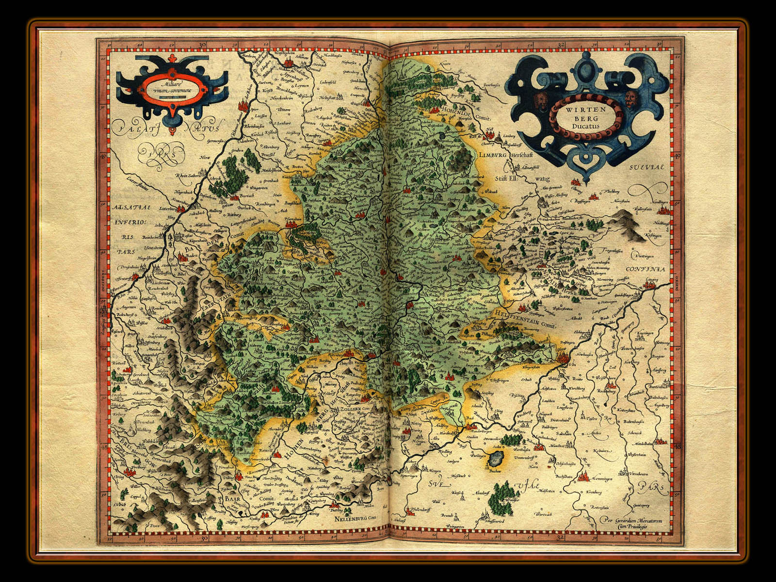 """Gerhard Mercator 1595 World Atlas - Cosmographicae"" - Wallpaper No. 40 of 106. Right click for saving options."