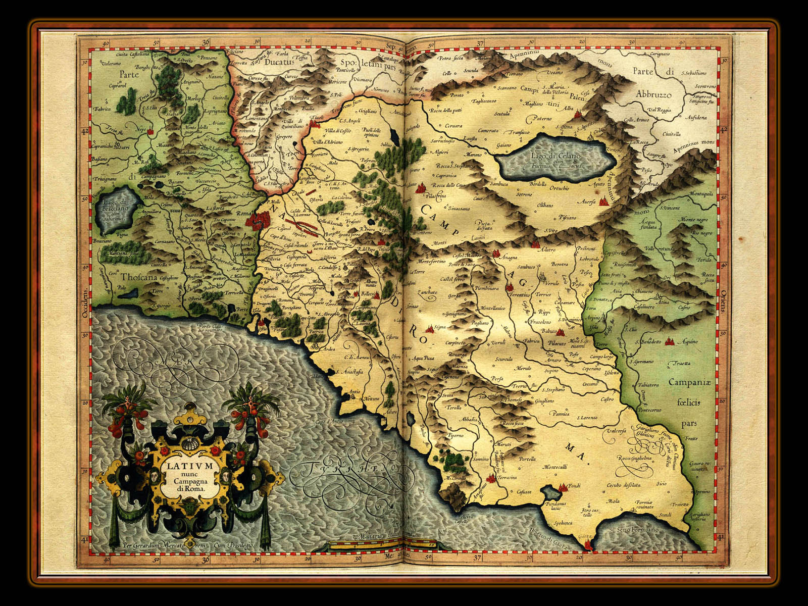 Map wallpaper illuminated manuscript atlas of maps for desktop gerhard mercator 1595 world atlas cosmographicae wallpaper no 12 of 106 gumiabroncs Images